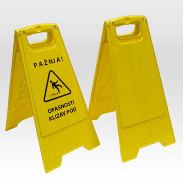 """Tabla upozorenja """"Klizav pod"""" sa stampom i bez stampe"""