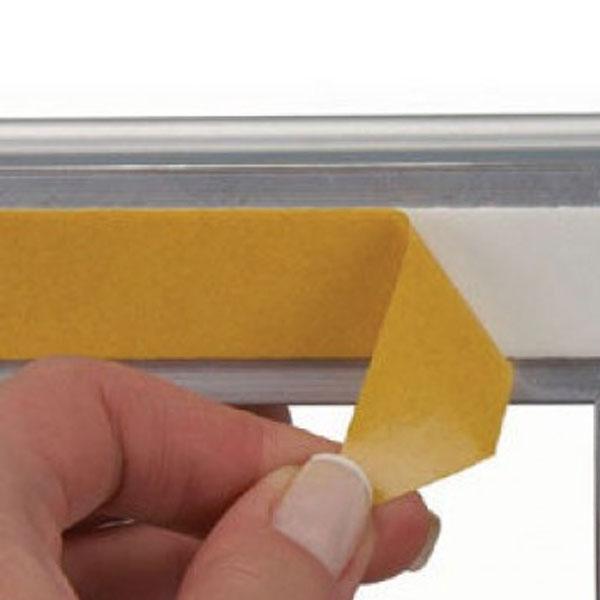 Prozoroski aluminijumski klik klak poster ramovi, skidanje zastitne folije sa lepljive trake