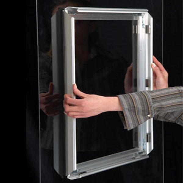 Prozoroski aluminijumski klik klak poster ramovi, postavljanje rama