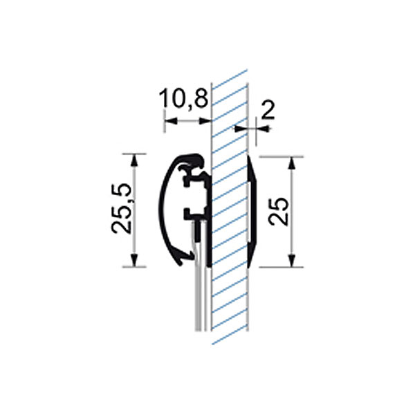Prozoroski aluminijumski klik klak poster ramovi, tehnicki crtez