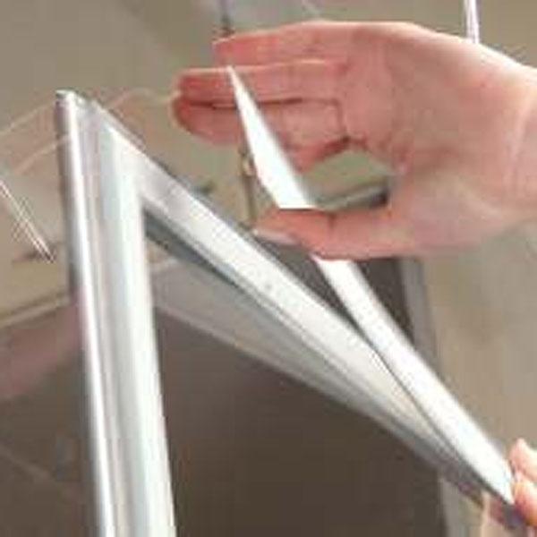 Prozoroski aluminijumski klik klak poster ramovi, postavljanje spoljne lajsne
